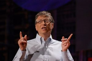 Former Microsoft Chairman and CEO Bill Gates (photo credit: Red Maxwell via Flickr, CC BY-NC 2.0)