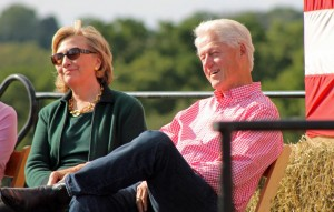 Former Secretary of State Hillary Clinton with former President Bill Clinton (photo credit: Karen Murphy via Flickr, CC BY-ND 2.0)
