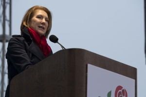 Former Hewlett-Packard CEO Carly Fiorina speaks at the 43rd Annual March for Life (photo credit: Aleteia Image Department via Flickr, CC BY 2.0)