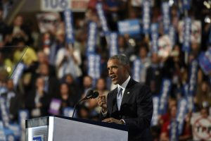 President Barack Obama addresses the 2016 Democratic National Convention (Photo credit: Disney | ABC Television Group via Flickr, CC BY-ND 2.0)