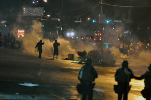 Unrest in Ferguson, Mo., in August 2014 (photo via Wikimedia Commons, CC BY-SA 4.0)