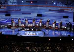 Iowa GOP/Fox News Debate, August 11, 2011 (photo credit: IowaPolitics.com via Flickr, CC BY-SA 2.0)