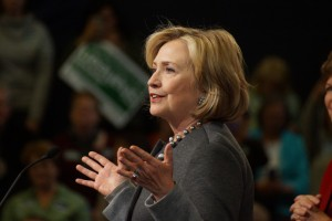 Former Secretary of State Hillary Clinton (photo credit: Marc Nozell via Flickr, CC BY 2.0)