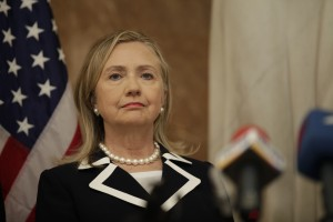 Former Secretary of State Hillary Clinton (photo credit: State Chancellery of Latvia via Flickr, CC BY-SA 2.0)