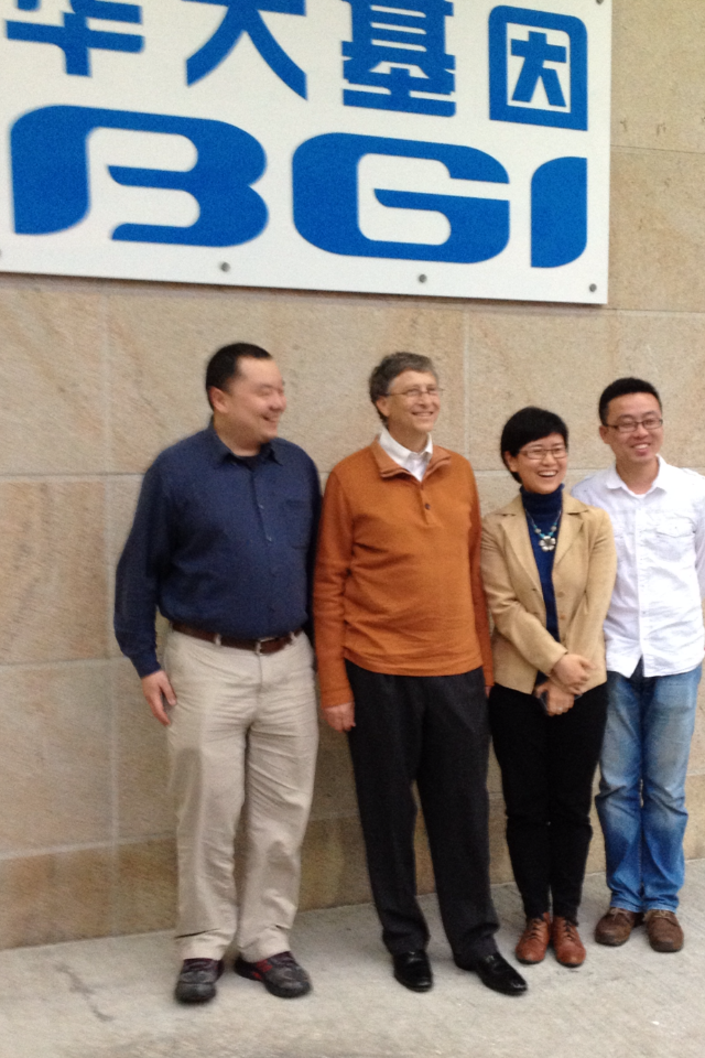 GATES AND BGI RESEARCHERS.