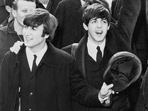 From left: John Lennon and Paul McCartney