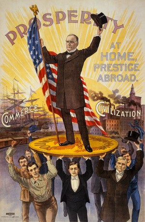 Campaign poster for Republican presidential candidate William McKinley, 1900.