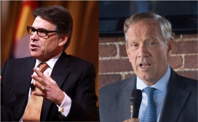 From left: Former Texas Gov. Rick Perry and former New York Gov. George Pataki