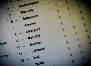 An English Premier League table (photo credit: Mike Beales via Flickr, CC BY-ND 2.0)