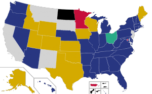 Republican Party presidential primaries results, as of May 26, 2016 (photo via Wikimedia Commons, CC BY-SA 4.0)