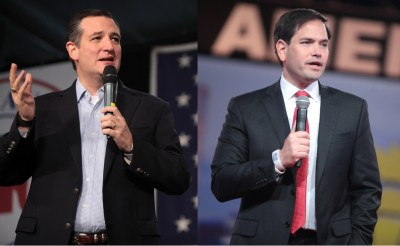 From left: Sen. Ted Cruz (R-TX) and Sen. Marco Rubio (R-FL)