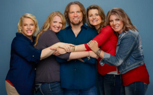 """Kody Brown and his four wives, stars of the TLC program, """"Sister Wives"""""""