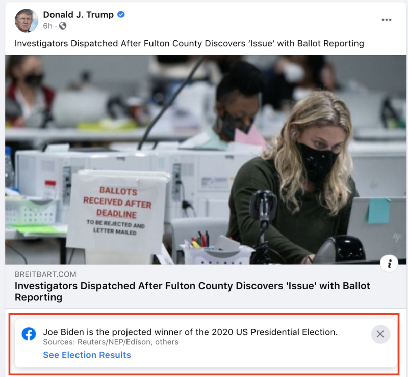 Facebook's election fact checker honored Biden in 2017, employees donated EXCLUSIVELY to Democrats in 2020 2