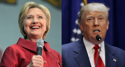 From left: former Secretary of State Hillary Clinton and Donald Trump