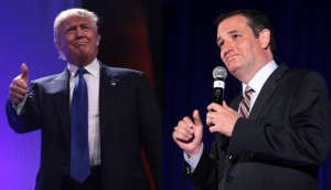 From left: Donald Trump and Sen. Ted Cruz (R-TX)