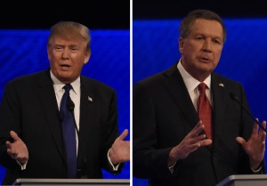 From left: Donald Trump and Ohio Gov. John Kasich (Credit for photos: Disney | ABC Television Group via Flickr)