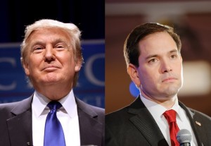 From left: Donald Trump and Sen. Marco Rubio (R-FL)
