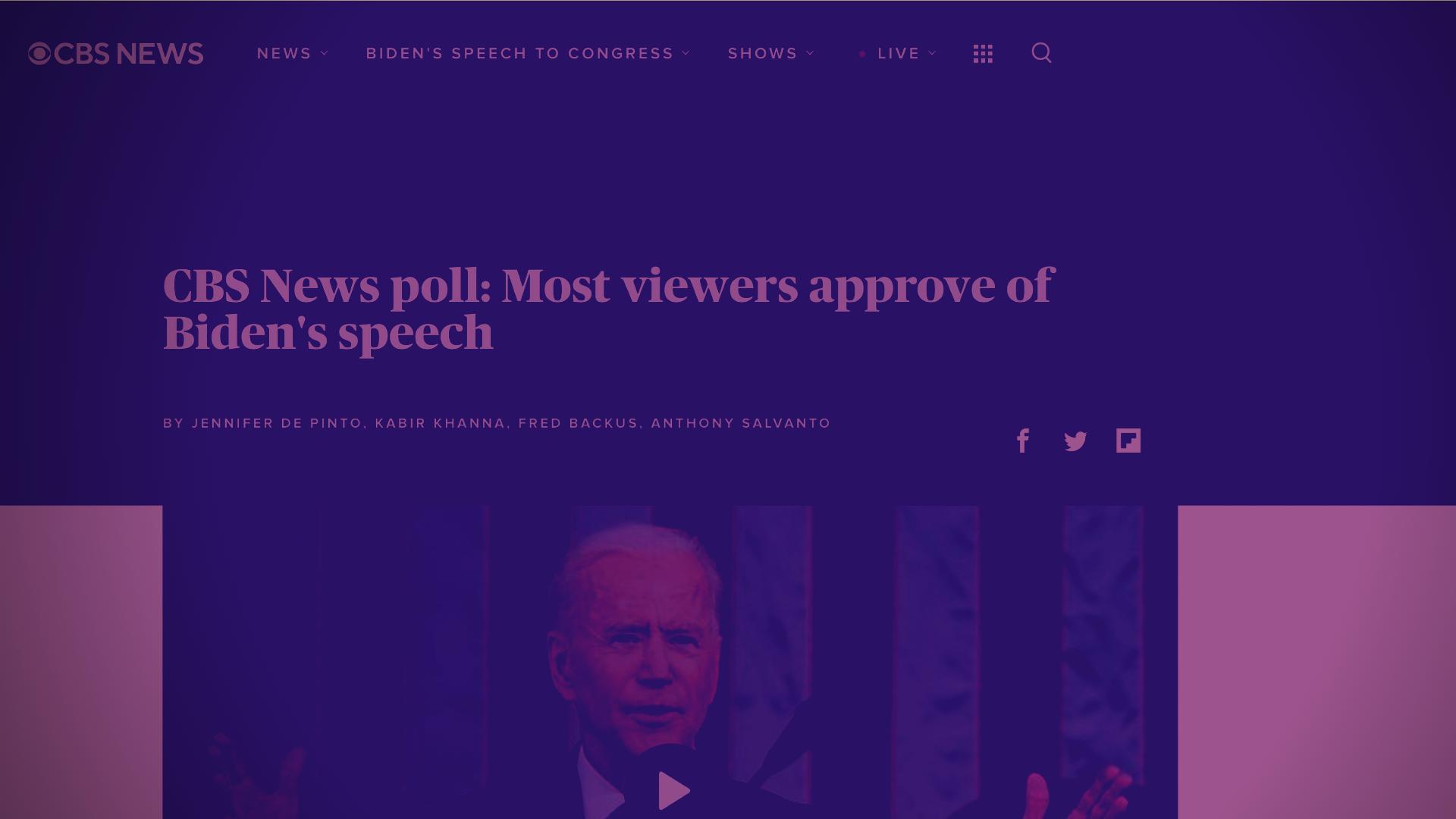 Biden Speech Approval