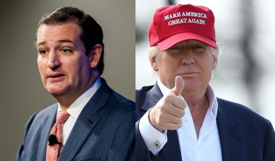 From left: Sen. Ted Cruz (R-TX) and Donald Trump